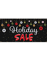 6' x 3' chalkboard holiday sale banner with 4 grommets
