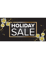 72 x 36 Black holiday store banner
