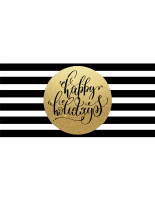 72 x 36 Black and white striped holiday banner for business