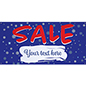 8' x 4' seasonal hanging banner with grommets