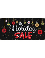 8' x 4' chalkboard holiday sale banner with grommets