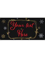 8' x 4' chalkboard hanging holiday banner with festive artwork