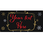 8' x 4' chalkboard hanging holiday banner with 4 grommets