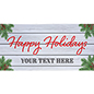 8' x 4' holiday hanging business banner with grommets