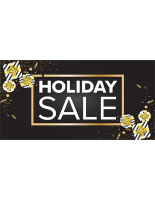96 x 48 Black and gold seasonal holiday banner