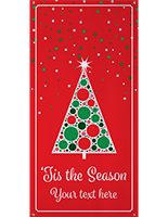 4' x 8' personalized holiday banner with Pre-Printed Message