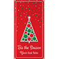 4' x 8' personalized holiday banner with 4 grommets