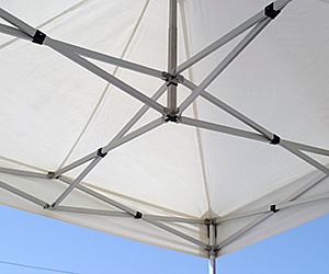 Inside View of Vendor Display Tent Framework