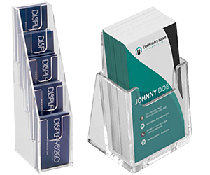 Vertical Format Business Card Holders