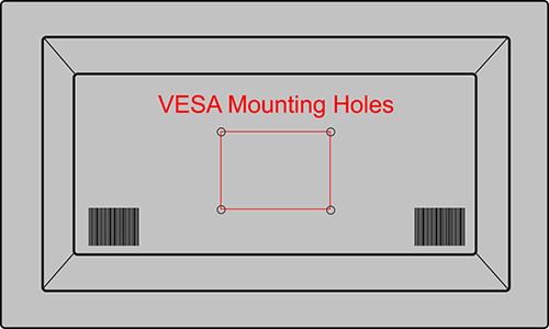 VESA Mounting Holes on TV