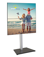 35.9 inch x 25.9 inch vertical dual tv floor stand with cable management