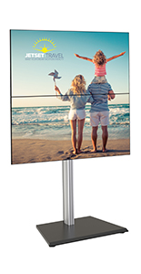 35.9 inch x 25.9 inch vertical tv floor stand with 2 screens