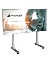 79.09 inch x 39.3 2x2 inch multi-monitor video wall stand with cable management