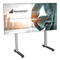 79.09 inch x 39.3 inch multi-monitor video wall stand with 4 televisions
