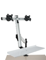 Dual Monitor Desktop Mount for 100x100 & 75x75 VESA Sizes
