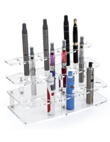 24-Pen Acrylic Atomizer Stand for Countertop Use