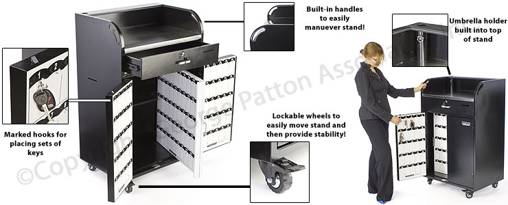 Locking Valet Stand W Marked Hooks For Up To 150 Sets