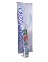 Collapsible Custom Banner Stand Literature Rack