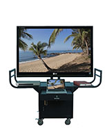 Black Steel Plasma TV Cart