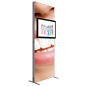 Backdrop TV Stand with Single Sided Graphics