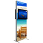 Backdrop TV Stand with Double Sided Graphics