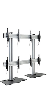 2x2 video wall mount with easy mouting brackets
