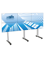 118.4 inch x 39.3 inch 2x3 multi-tv video wall with cable management