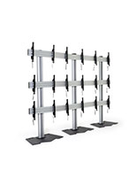 3x3 video wall mount stand with black and silver finish