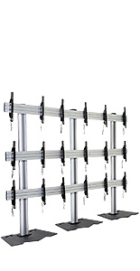 3x3 video wall mount stand with assembly hardware