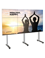 118.4 inch x 39.3 inch 3x3 portable multi-monitor video wall with floor standing display
