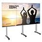 118.4 inch x 39.3 inch 3x3 portable multi-monitor video wall with heavy duty construction