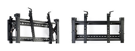Anti-theft, tamper prevention TV wall mount