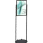 Black 18 x 24 Mobile Poster Stand, Top Loading
