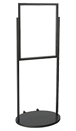 Black 22 x 28 Wheeled Poster Stand, Top Loading