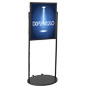 Black 22 x 28 Wheeled Poster Stand, Rolling Signage