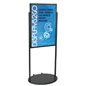Black 24 x 36 Poster Stand with Wheels, Oval Base