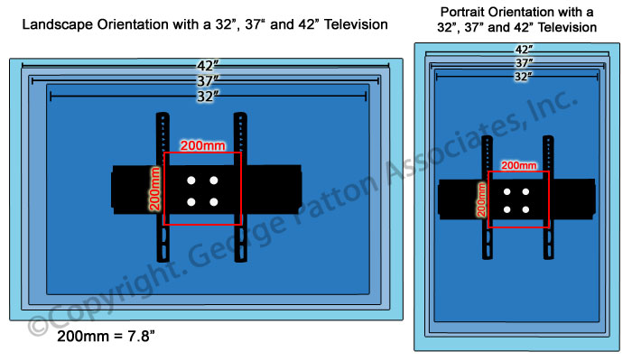 Tv Wall Mount Fits A 23 To 42 Flat Panel Counterbalance