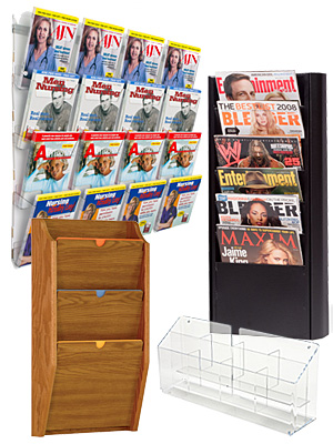 Wall Hanging Literature Racks