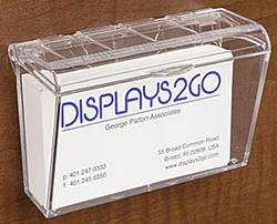 Wall Mount Business Card Display