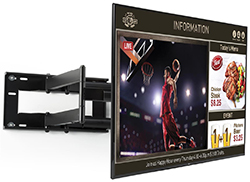 wall mounted digital advertising screen