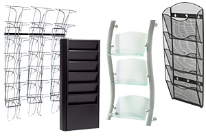 Metal Wall Literature Racks