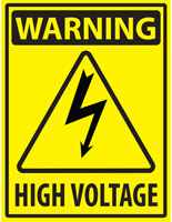 Warning Label High Voltage