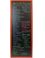 wooden chalk boards