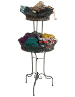 Tiered Wrought Iron Basket with (2) Baskets