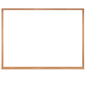 "Wood Framed Whiteboard - 48""w x 36""h"