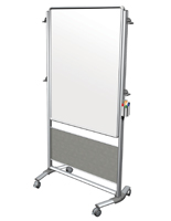 Double Sided Whiteboard with Aluminum Trim