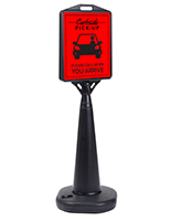 13 x 15 black curbside pickup cone sign