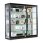 LED Wall Display Cabinet with 4 Shelves