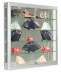 Wall LED Display Cabinet, Ships Assembled