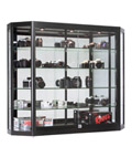 Lockable Wall Mounted LED Display Cabinet